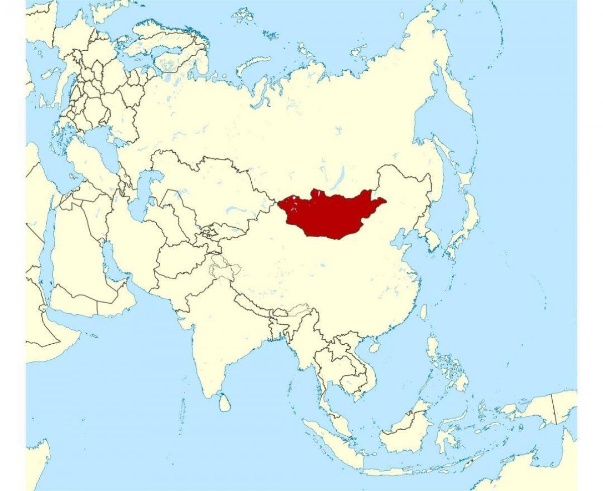 Mongolian Sijainti Maailman Kartalla Sijainti Mongolia Maailman