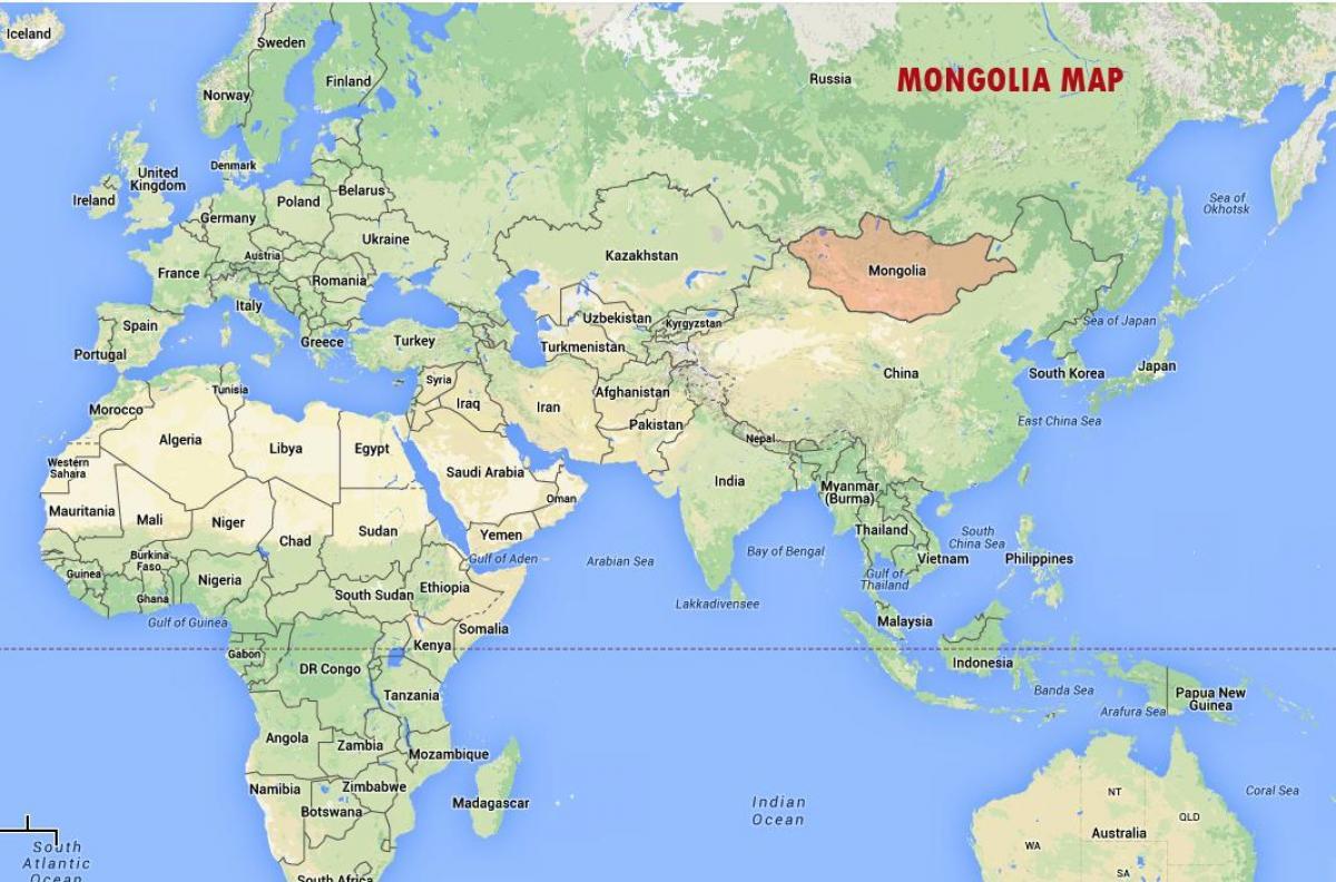 Ulan Bator Mongolia Kartta Ulan Bator Mongolia Kartta Ita Aasia